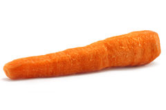 Scour carrot. On the white background close-up Stock Photo