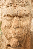 Scoured-face of the sand sculpture Royalty Free Stock Image
