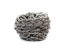 Scourer. Metal Sponge. Scourer on a white background Stock Image