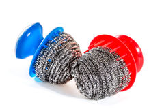 Scourers for washing dishes Stock Images
