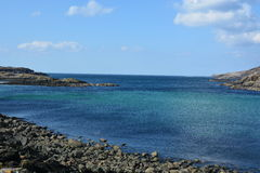 Scourie海湾特写镜头 库存照片