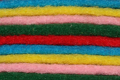 Scouring fleece. Closeup shot of Scouring fleece in different color Royalty Free Stock Image