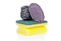 A Scouring Pad Sponge, a Steel Wool Soap Pad Royalty Free Stock Photography