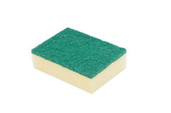 Scouring pads on white background Stock Photos