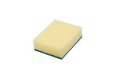 Scouring pads on white background Royalty Free Stock Image