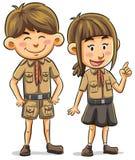 Scout illustration libre de droits