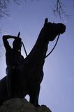 Scout. Silhouette of a Kansas City, Missouri landmark, the Scout statue Stock Photography