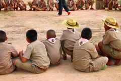 Scout activity Royalty Free Stock Image