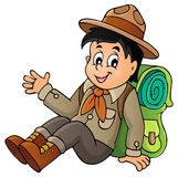 Scout boy theme image 1 Royalty Free Stock Images