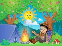 Scout boy theme image 2 Stock Photo
