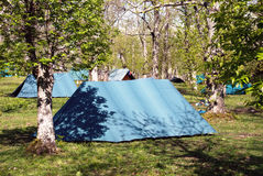 Scout camp Royalty Free Stock Images