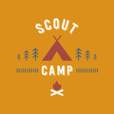 Scout camp illustration Royalty Free Stock Images