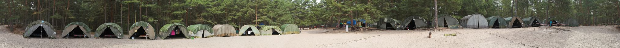 Scout campsite. At forest - Poland royalty free stock images