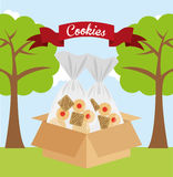 Scout cookies Royalty Free Stock Images