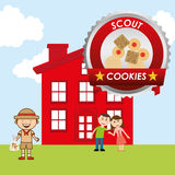 Scout cookies Stock Image