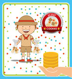 Scout cookies Royalty Free Stock Photos