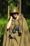 Scout dans la forêt Image libre de droits