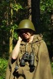 Scout dans la forêt Images libres de droits