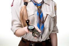 Scout dans le studio Images libres de droits