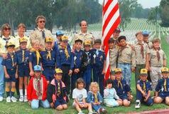 Scout de garçon et troupes de scout de Cub photographie stock