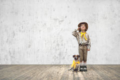 Scout with dog Stock Images