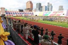 Parade of Scouts National Foundation Day. Stock Image