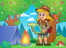 Scout girl theme image 5 Stock Images