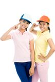 Scout girls Royalty Free Stock Images