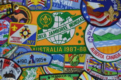 Scout Jamboree Patches Stock Images