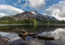 Scout Lake Log and Mt Jefferson
