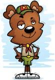 Scout masculin d'ours de bande dessinée sûre Photos stock