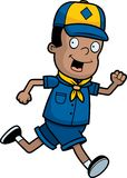 Scout Running Royalty Free Stock Photos
