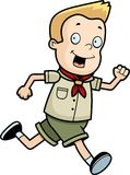 Scout Running Royalty Free Stock Images