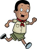Scout Running Stock Photo