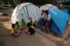Boy scout Singapore jamboree. 4 th Asean Scout jamboree 27 Nov-4 Dec 2013 in Thailand Royalty Free Stock Photo