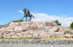 The Scout Statue at the Buffalo Bill Center of the West. CODY, WYOMING - JUNE 24, 2017: The Scout statue at Buffalo Bill Center of the West. A complex of five