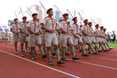 Parade of Scouts National Foundation Day. Stock Photos