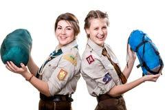 Scouts dans le studio Photographie stock libre de droits