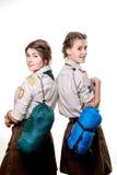 Scouts dans le studio Image libre de droits