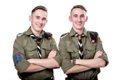 Scouts dans le studio Photo libre de droits