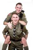 Scouts dans le studio Photos stock