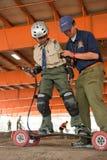 Scouts enseignant des scouts Photos stock