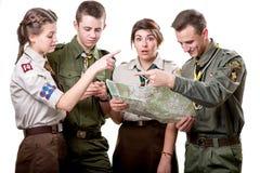 Scouts in studio Stock Photos
