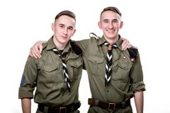 Scouts in studio Royalty Free Stock Image