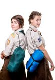 Scouts in studio Royalty Free Stock Photo