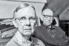 Scowling Elderly Couple Stock Photos