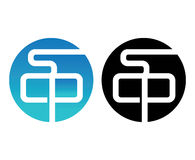 SCP Logo Design Set. Aı 10 Supported Royalty Free Stock Photo