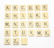 Scrabble Alphabet. The alphabet blocks, tiles from scrabble royalty free stock photo