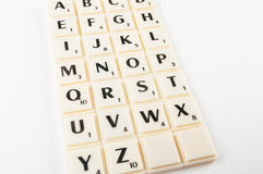 Scrabble Aplhabet Royalty Free Stock Image
