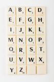 Scrabble Aplhabet Royalty Free Stock Images